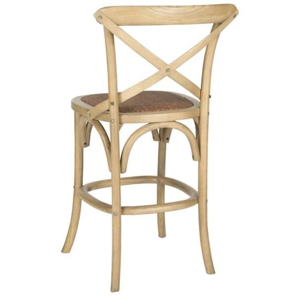 Miraculous Shop Safavieh 24 4 Inch Franklin Weathered Oak Counter Stool Lamtechconsult Wood Chair Design Ideas Lamtechconsultcom