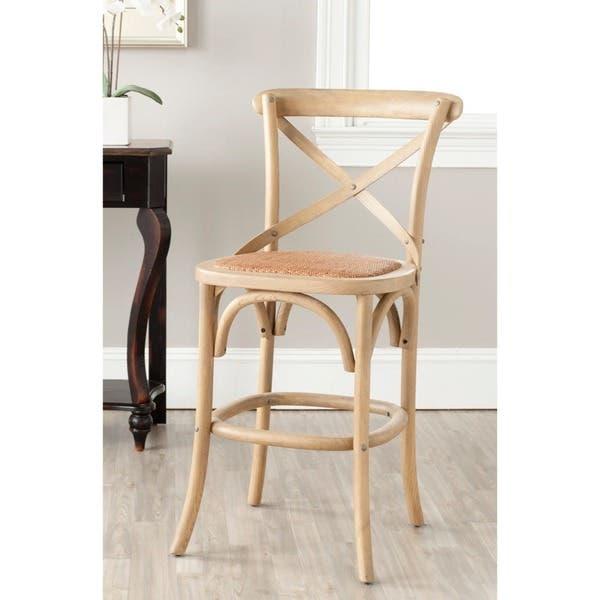 Astonishing Shop Safavieh 24 4 Inch Franklin Weathered Oak Counter Stool Lamtechconsult Wood Chair Design Ideas Lamtechconsultcom