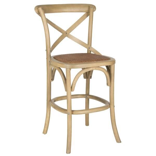 Terrific Shop Safavieh 24 4 Inch Franklin Weathered Oak Counter Stool Lamtechconsult Wood Chair Design Ideas Lamtechconsultcom