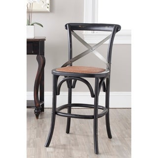 Safavieh 24-inch Eleanor X-Back Black Counter Stool