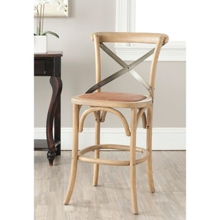 Safavieh 24.4-inch Eleanor Weathered Oak Counter Stool