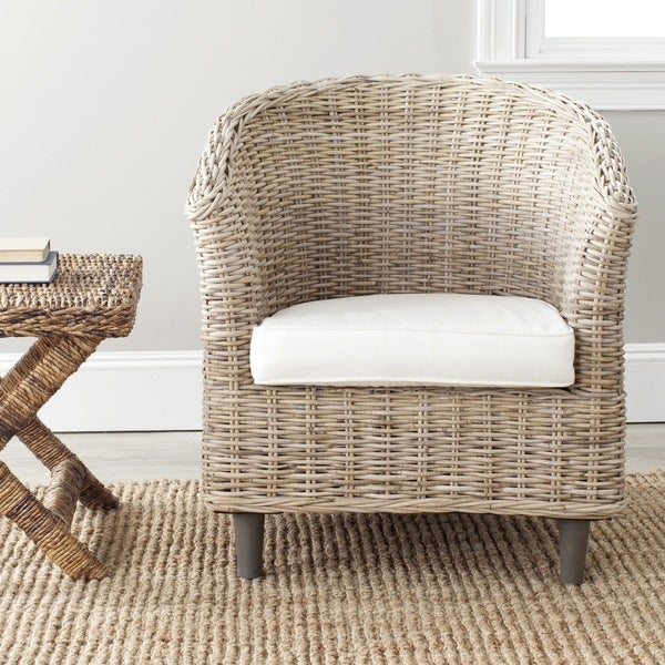Safavieh 'Omni' Natural Wood Barrel Chair