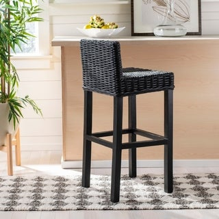 Safavieh 29.5-inch Cypress Black Bar Stool