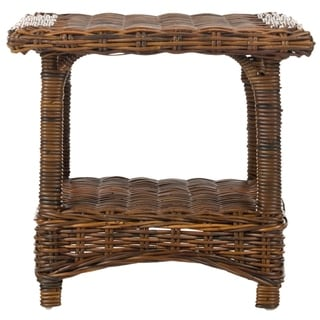 Safavieh Bowen Brown Rattan Side Table
