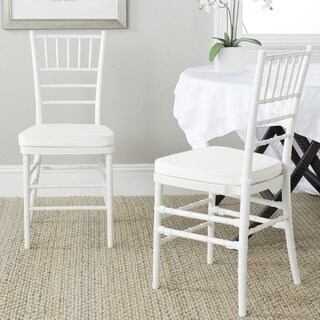 Safavieh Country Classic Dining Carly White Indoor/Outdoor Dining Chairs (Set of 2)