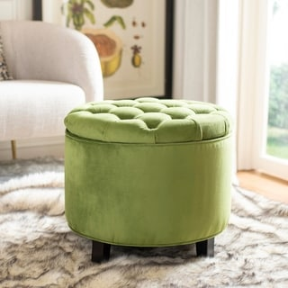 Safavieh Amelia Fern Tufted Storage Ottoman