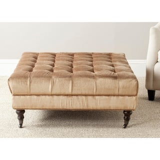 Safavieh En Vogue Clark Golden Olive Cocktail Ottoman