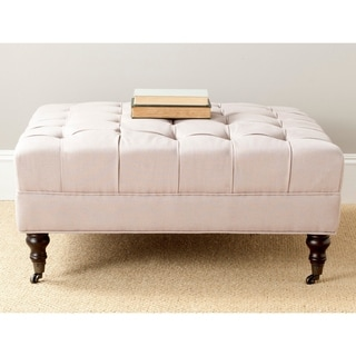 Safavieh En Vogue Clark Taupe Cocktail Ottoman
