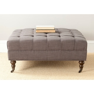 Safavieh Clark Charcoal Grey Cocktail Ottoman