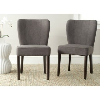 Safavieh Mid Century Modern Dining Clifford Charcoal Brown Dining Chairs (Set of 2)