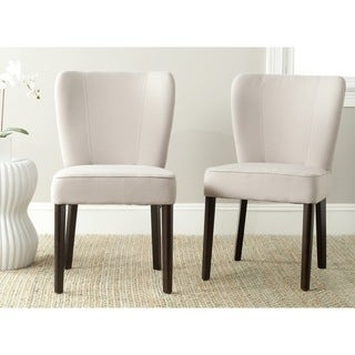 Safavieh Mid Century Modern Dining Clifford Taupe Dining Chairs (Set of 2)