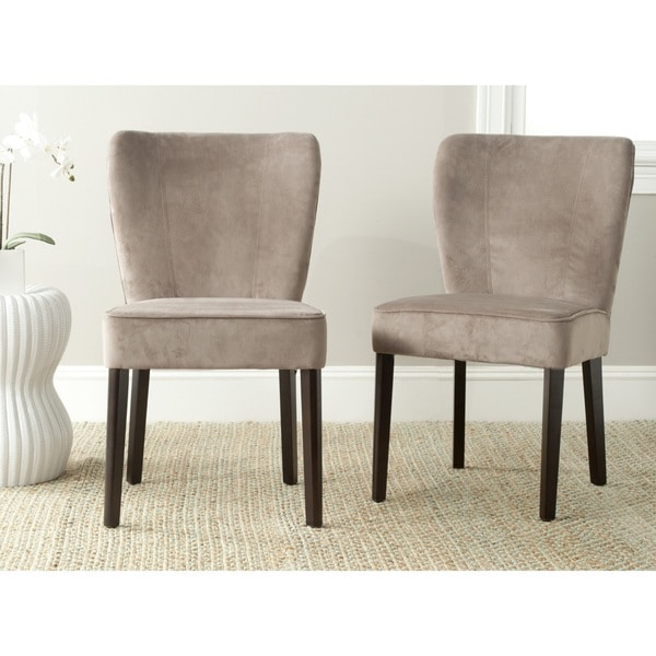 0a79ea043610 Safavieh Mid Century Modern Dining Clifford Mushroom Taupe Dining Chairs ( Set of 2)
