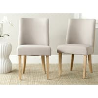 Safavieh En Vogue Dining Judy Taupe/ Beige Oak Dining Chairs (Set of 2)