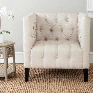 "Link to Safavieh En Vogue Glen Beige Club Chair - 31.9"" x 32.9"" x 31.9"" Similar Items in Living Room Chairs"