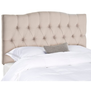 Safavieh Axel Taupe Linen Upholstered Tufted Headboard (Full)