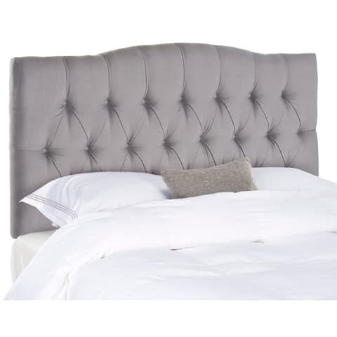 Safavieh Axel Arctic Grey Upholstered Tufted Headboard (Full)