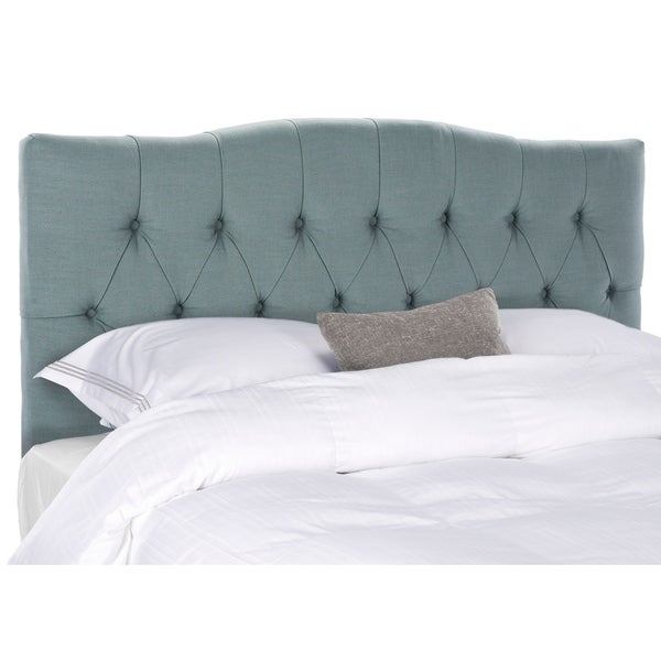 Safavieh Axel Sky Blue Upholstered Tufted Headboard (Full)