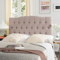 Safavieh Axel Taupe Linen Upholstered Tufted Headboard (Queen)