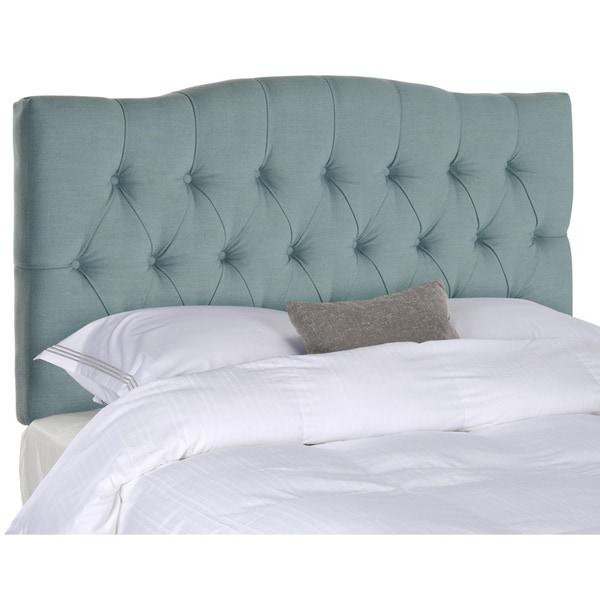 Shop Safavieh Axel Sky Blue Upholstered Tufted Headboard