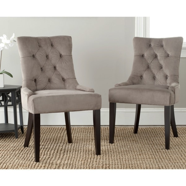 Safavieh En Vogue Dining Abby Mushroom Taupe Dining Chairs (Set Of 2)