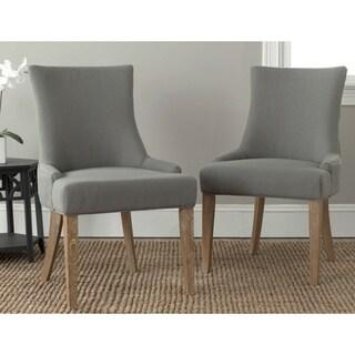 Safavieh En Vogue Dining Lester Granite Oak Dining Chairs (Set of 2)