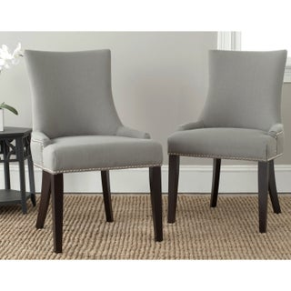 Safavieh En Vogue Dining Lester Granite Nailhead Dining Chairs (Set of 2)