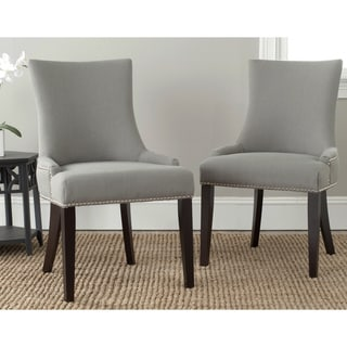 "Link to Safavieh Dining Lester Granite Nailhead Dining Chairs (Set of 2) - 22"" x 24.8"" x 36.4"" Similar Items in Dining Room & Bar Furniture"