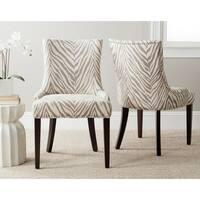 Safavieh En Vogue Dining Lester Grey Zebra Dining Chairs (Set of 2)