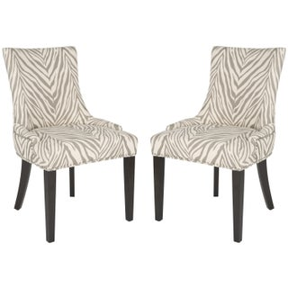 Safavieh En Vogue Dining Lester Grey Zebra Dining Chairs (Set of 2)