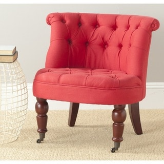 Safavieh En Vogue Carlin Cranberry Tufted Chair
