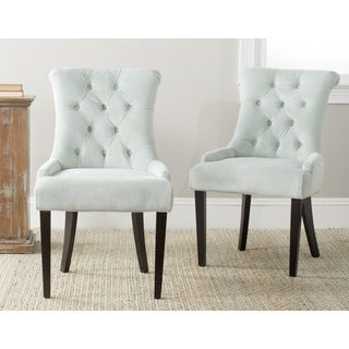 Safavieh En Vogue Dining Bowie Light Blue Side Chairs (Set of 2)