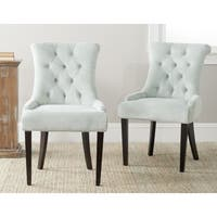 Safavieh En Vogue Dining Bowie Light Blue Dining Chairs (Set of 2)