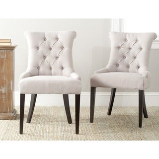 Safavieh En Vogue Dining Bowie Taupe Dining Chairs (Set of 2)