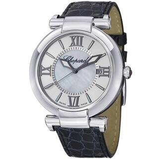 Chopard Women's 388531-3001 'Imperiale' Silver Dial Blue Leather Strap Watch|https://ak1.ostkcdn.com/images/products/8307034/Chopard-Womens-388531-3001-Imperiale-Silver-Dial-Blue-Leather-Strap-Watch-P15623342.jpg?impolicy=medium