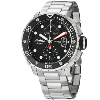 Alpina Men's 'Extreme Diver' Black Dial Stainless Steel Watch