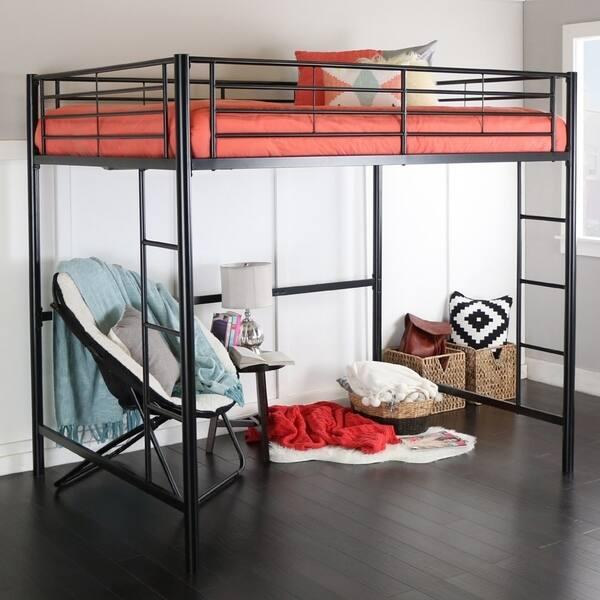 Taylor Olive Abner Black Metal Full Loft Bed On