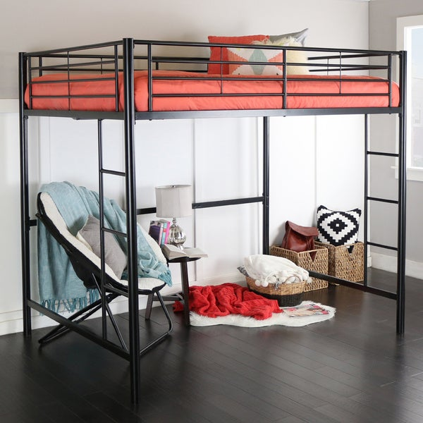 bcc5d39aec71 Shop Black Metal Full Loft Bed - Free Shipping Today - Overstock ...