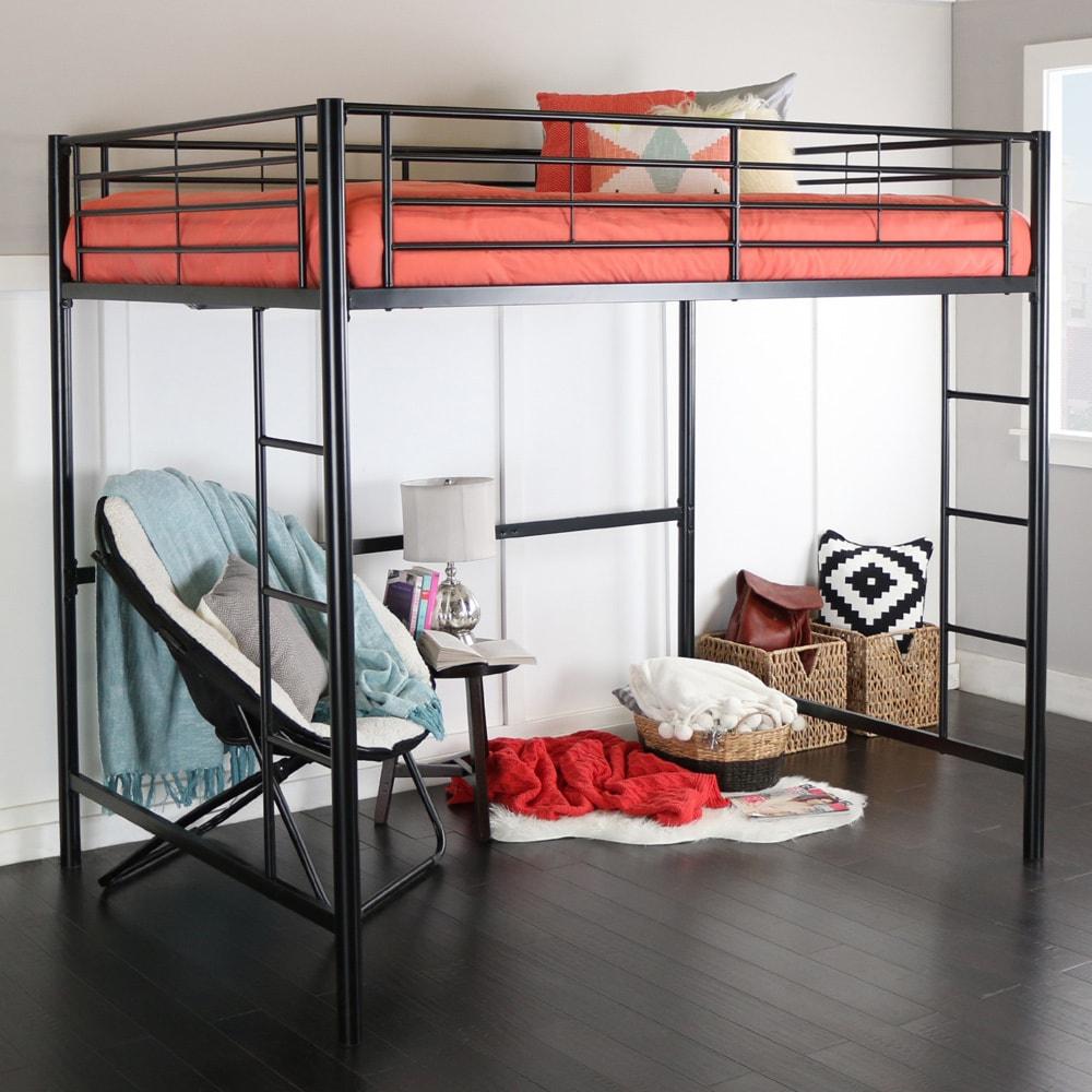 Full Metal Black Loft Bed