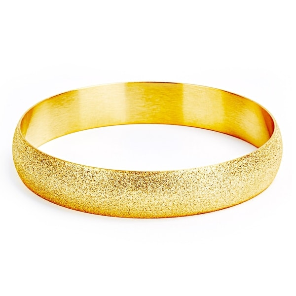 West Coast Jewelry Sterling Silver 8mm and Gold Plated Bangle