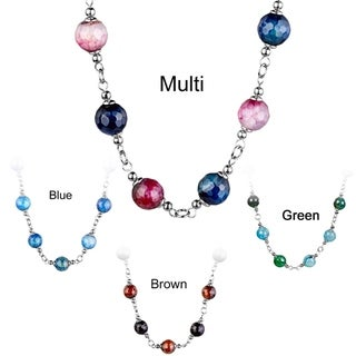 Link to ELYA Stainless Steel Agate Necklace Similar Items in Bracelets