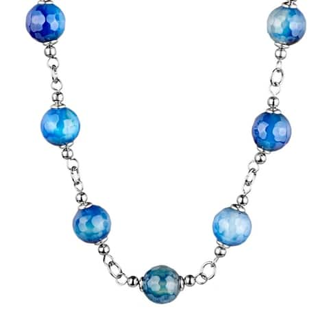 ELYA Stainless Steel Agate Necklace