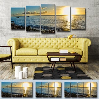 Chris Doherty 'Sunset I' 5-piece Canvas Wall Art Set