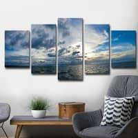 Ready2HangArt 'Sunset at Sea' Multi-Piece Canvas Art Set - Blue/White