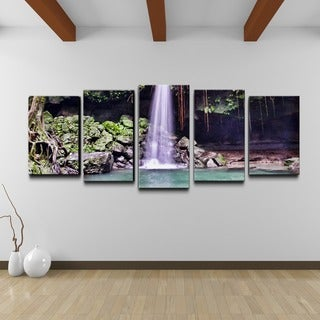 Chris Doherty 'Waterfall' 5-piece Gallery-wrapped Canvas Wall Art Set