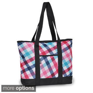 Everest 16.5-inch 600 Denier Polyester Pattern Shopping Tote