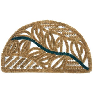 Rubber-Cal 'Tivoli' Half-moon Coir Doormat (18 x 30)