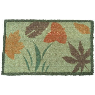 Rubber-Cal 'Summer Flower' Decorative Doormat (18 x 30)