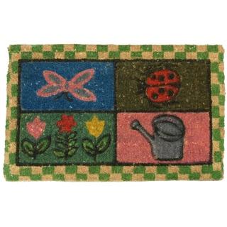 Rubber-Cal 'Sonoma Merlot' Coco Coir Doormat (18 x 30)