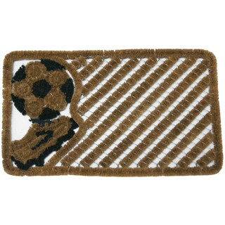 Rubber-Cal 'Soccer Fan' Cocomats Door Mat (18 x 30)