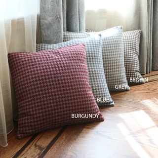 Aurora Home Felted Wool Blend Houndstooth 18-inch Decorative Throw Pillow (Set of 2)